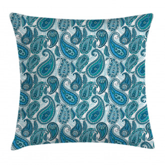 Ocean Stripe and Flower Pillow Cover
