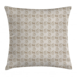 Abstract Geometric Buds Pillow Cover