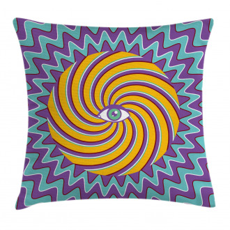Color Hypnotic Circles Pillow Cover