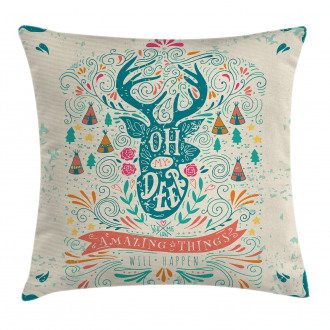 Inspirational Ornaments Pillow Cover