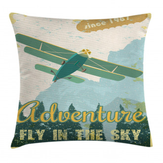 Adventure in Sky Plane Pillow Cover