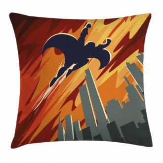 Flying Superhero Pillow Cover