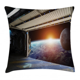 Earth Galaxy Space Pillow Cover