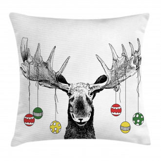 Sketchy Noel Ornament Pillow Cover