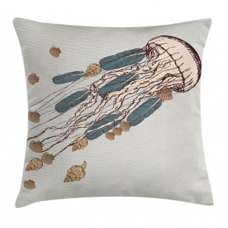 Boho Feather Artsy Pillow Cover