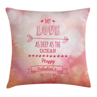 Pink Love Story Pillow Cover