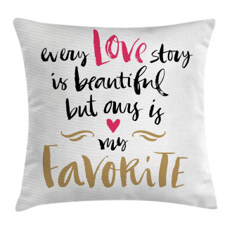 Romantic Quote Pillow Cover