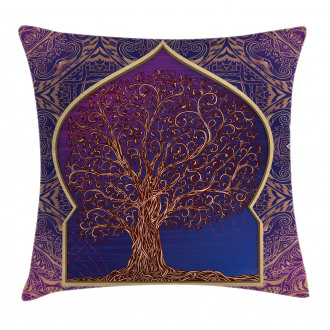 Retro Eastern Branches Pillow Cover