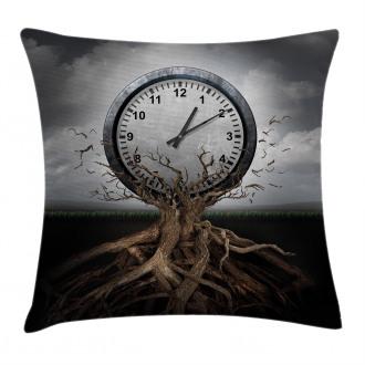 Clock Surrealist Symbol Pillow Cover