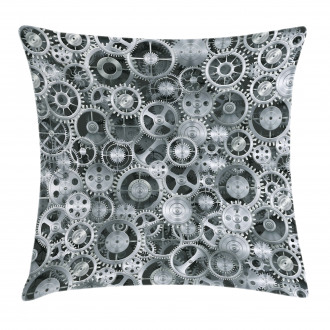 Clock Technologic Pattern Pillow Cover