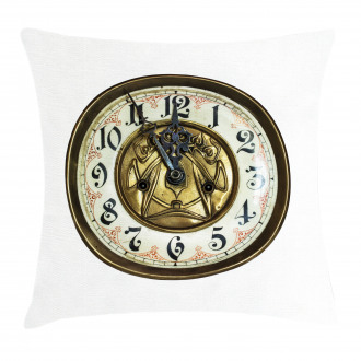 Antique Clock with Face Pillow Cover