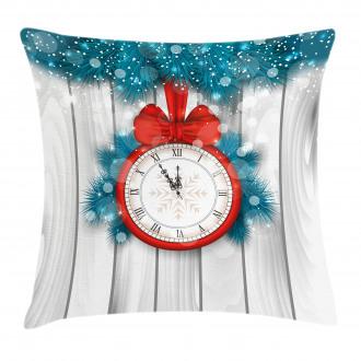 Midnight Clock Pine Pillow Cover