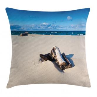 Sandy Sea Shore Digital Pillow Cover