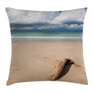Driftwood on the Beach Pillow Cover