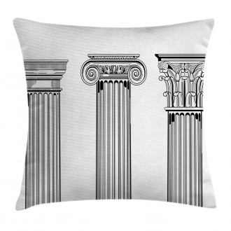 Antique Column Capitals Pillow Cover