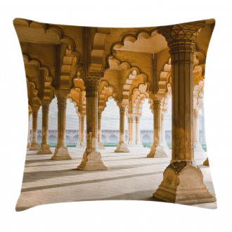 Agra Fort Pillar Pillow Cover