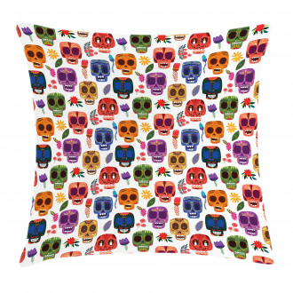 Tribal Scary Mask Pillow Cover