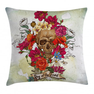 Dead Flowers Spain Pillow Cover