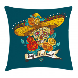 Mexican Festive Hat Pillow Cover