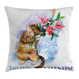 Cute Baby Kitten Pillow Cover