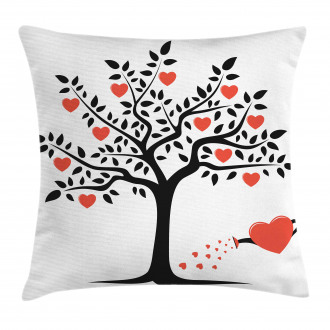 Romantic Love Tree Pillow Cover