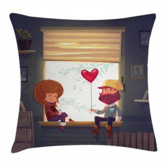 Love Romantic Couple Pillow Cover