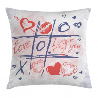 Xoxo Game with Lips Pillow Cover