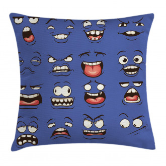 Surprised Sad Fierce Mood Pillow Cover