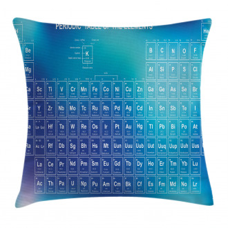 Chemistry Element Table Pillow Cover