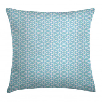 Wavy Water Lines Circled Pillow Cover