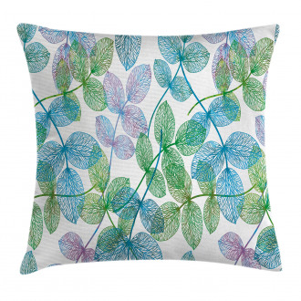 Flowers Leaves Ivy Ombre Pillow Cover