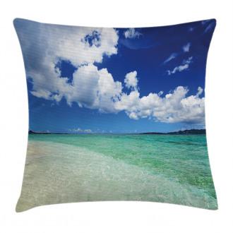 Island Sealife Wavy Sunny Pillow Cover