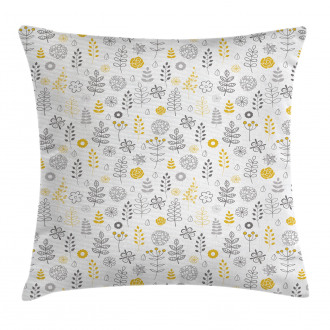 Wild Forest Leaf Flowers Pillow Cover