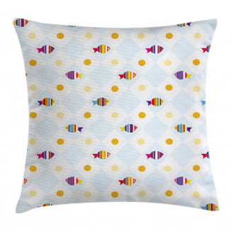 Fish Cartoon with Spots Pillow Cover
