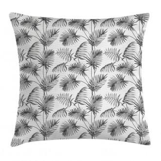 Palm Leaf Botanic Island Pillow Cover