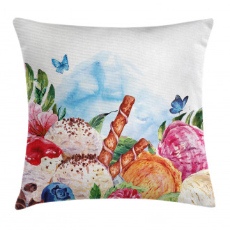 Dessert and Flower Art Pillow Cover
