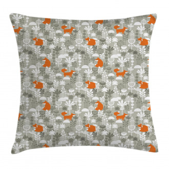 Fox in the Winter Forest Pillow Cover
