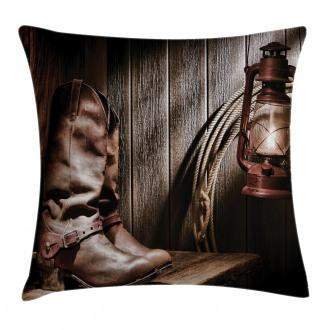Vintage Cowboys Bench Pillow Cover
