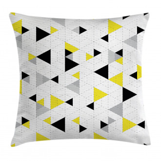 Diamond Motives in Mosaic Pillow Cover