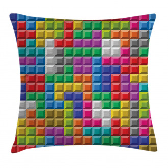 Colorful Blocks Art Pillow Cover