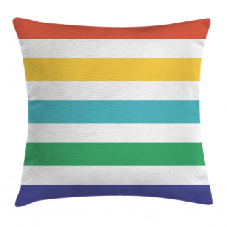 Rainbow Kids Pattern Pillow Cover