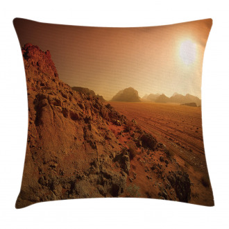 Space Clash Landscape Pillow Cover