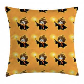 Cartoon Costume and Wand Pillow Cover