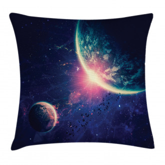 Outer Space Mars Planets Pillow Cover