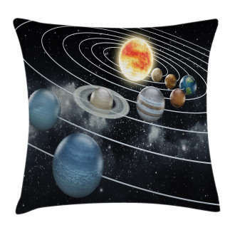Solar System Sun Planets Pillow Cover