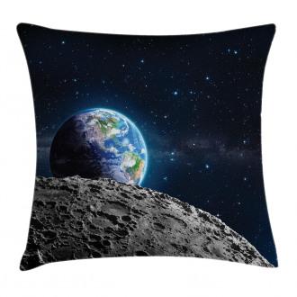 Moon Surface Luna Design Pillow Cover