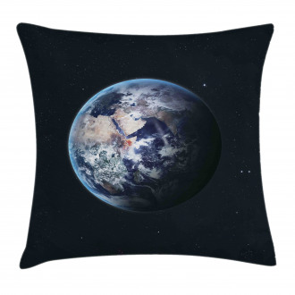 Planet Outer Space Scene Pillow Cover