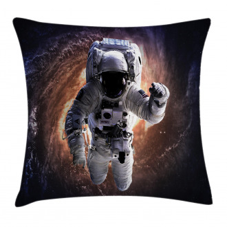 Astronaut in Outer Space Pillow Cover