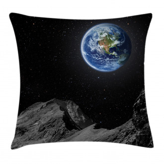 Moon Mars Planet Earth Pillow Cover