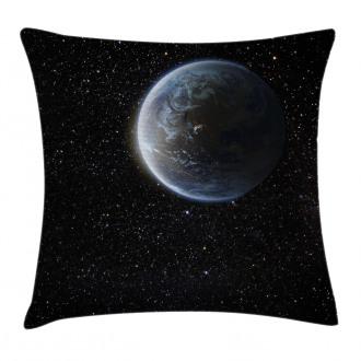 Moon Planet Earth Cosmos Pillow Cover